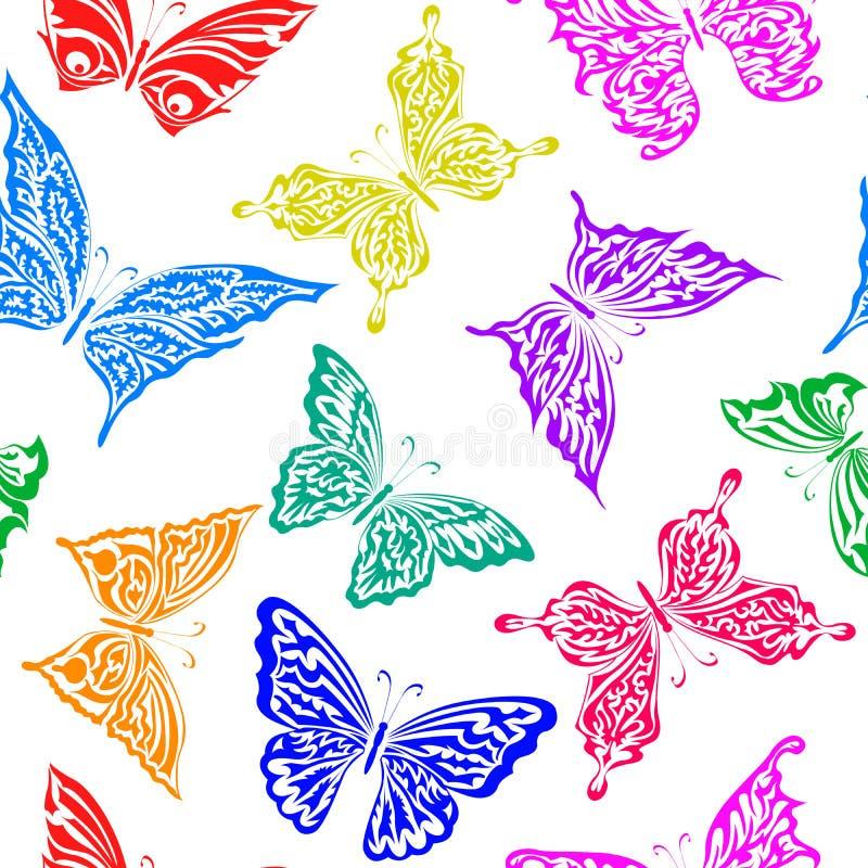 seamless fjärilsmodell vektor illustrationer