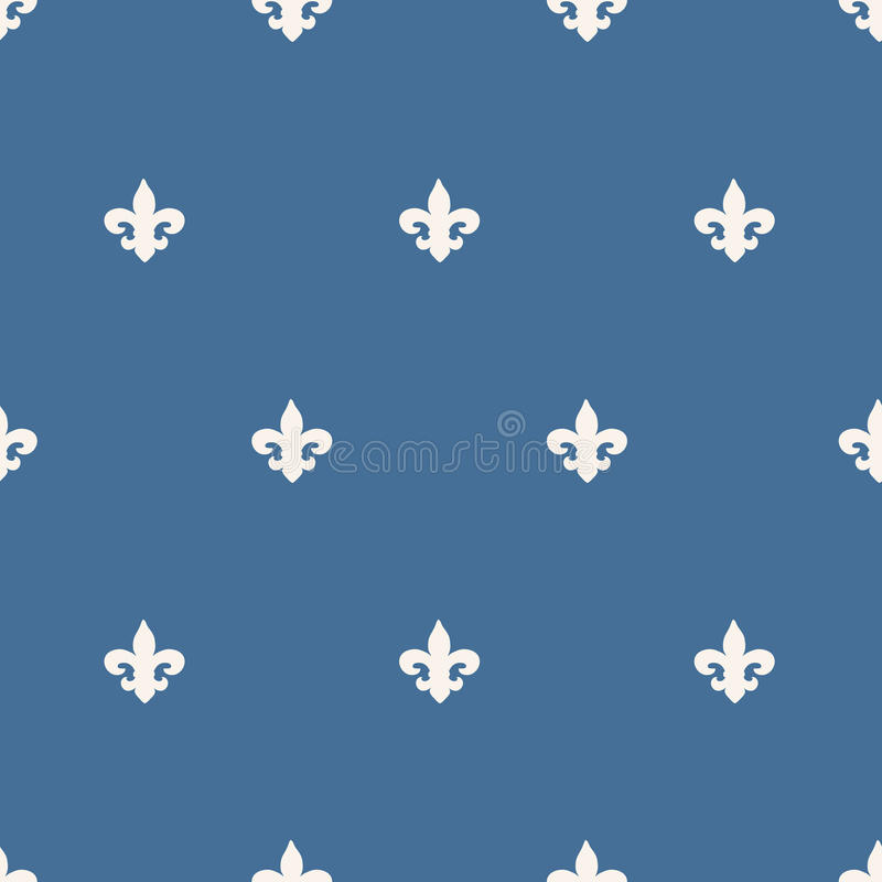 seamless fleur-de-lis pattern stock illustration