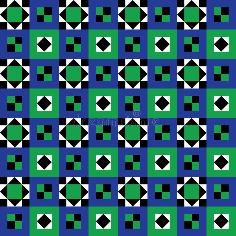 Seamless Floor Tiles Pattern royalty free illustration