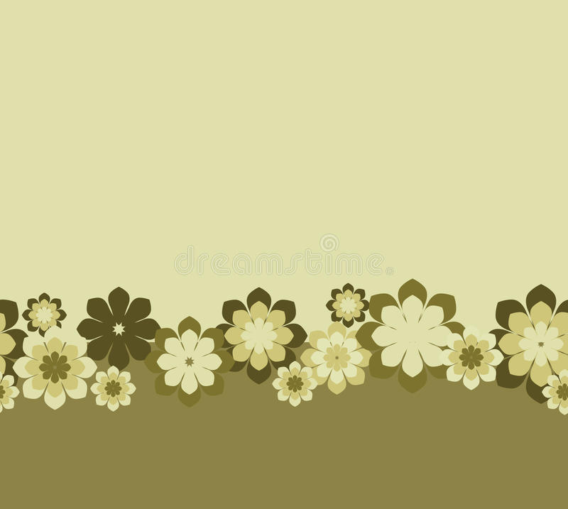 Seamless floral background vector illustration