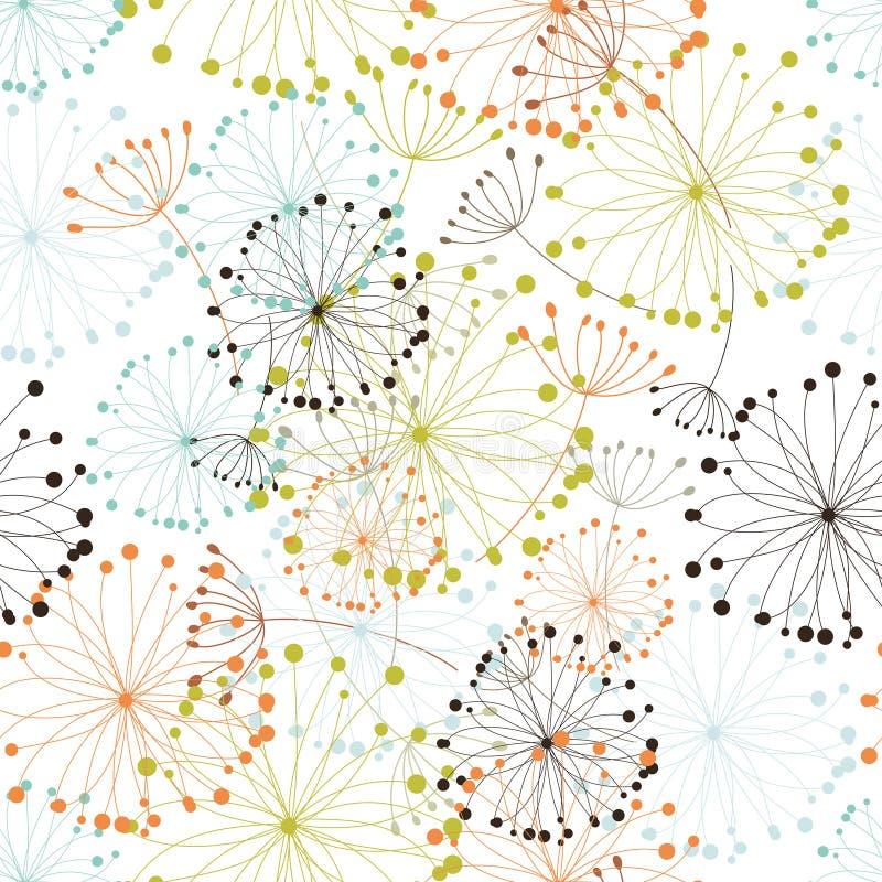 Seamless floral background stock illustration