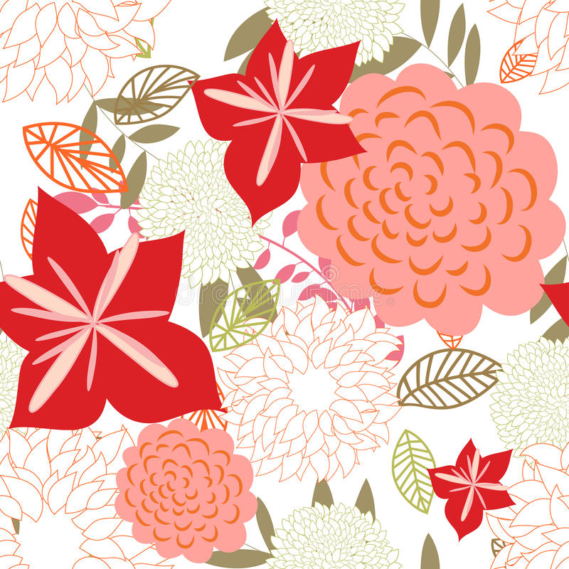 Download Seamless floral background stock vector. Image of decoration - 15599384