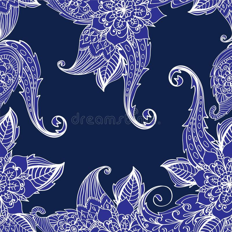 Download Seamless floral background stock illustration. Image of floral - 28216005