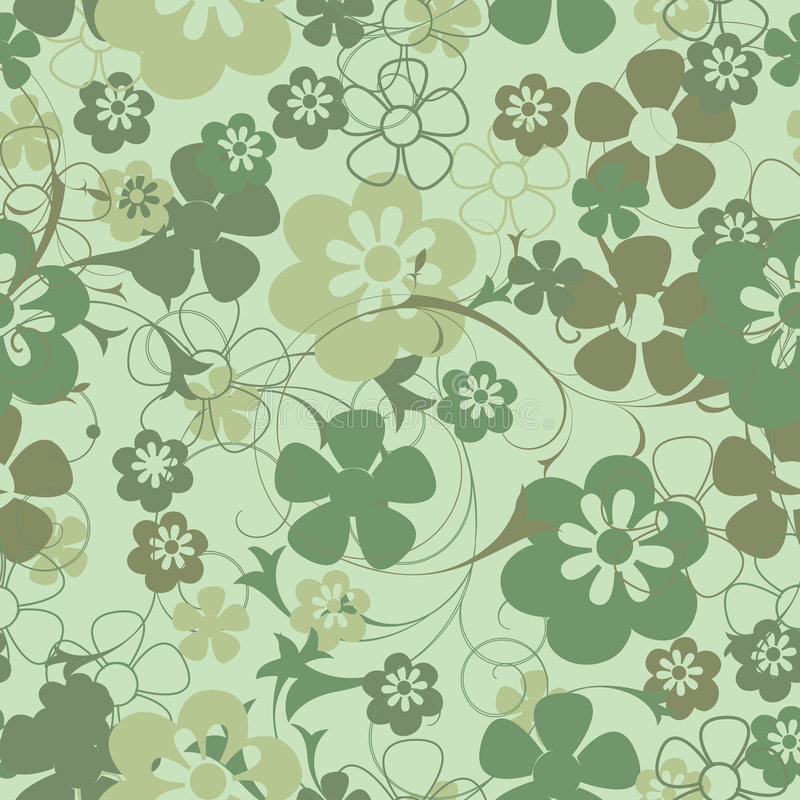 Seamless floral background. Seamless floral decoration for backgrounds stock illustration