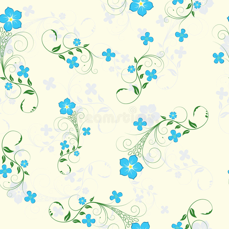 Download Seamless floral background stock vector. Illustration of green - 5585151