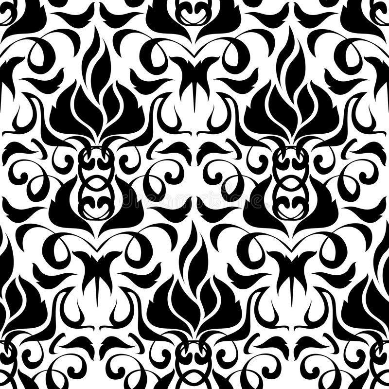 Download Seamless floral background stock vector. Illustration of ornament - 6719733