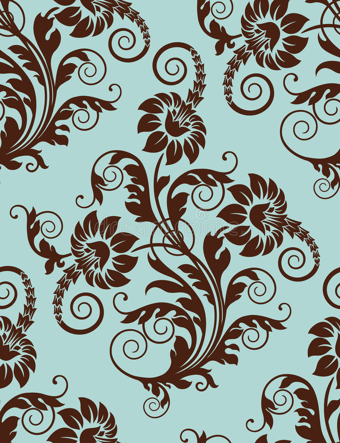 Free Seamless Floral Background. Royalty Free Stock Photos - 7197278