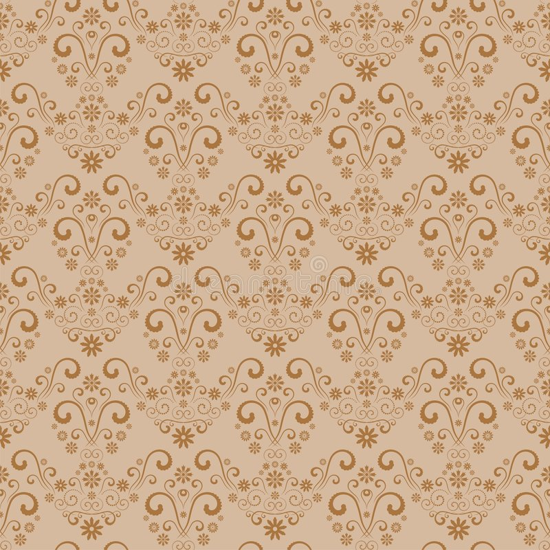 Seamless floral background. Seamless retro damask pattern. Floral vintage wallpaper background royalty free illustration