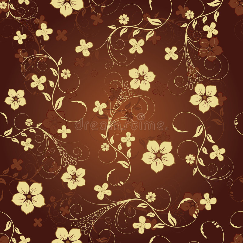 Seamless floral background stock illustration