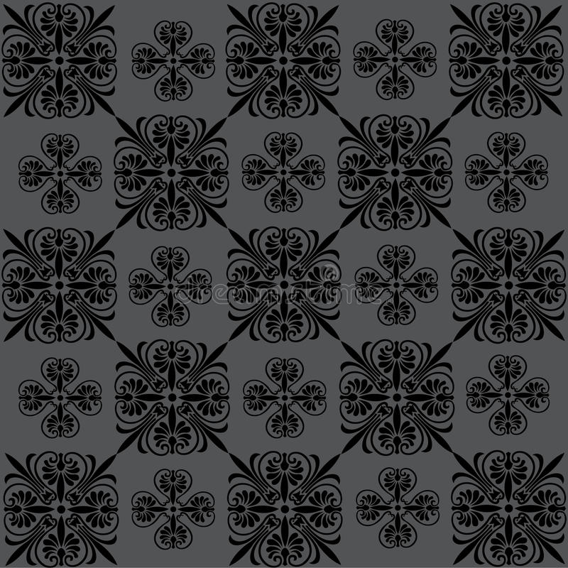 Seamless floral background, pattern royalty free illustration