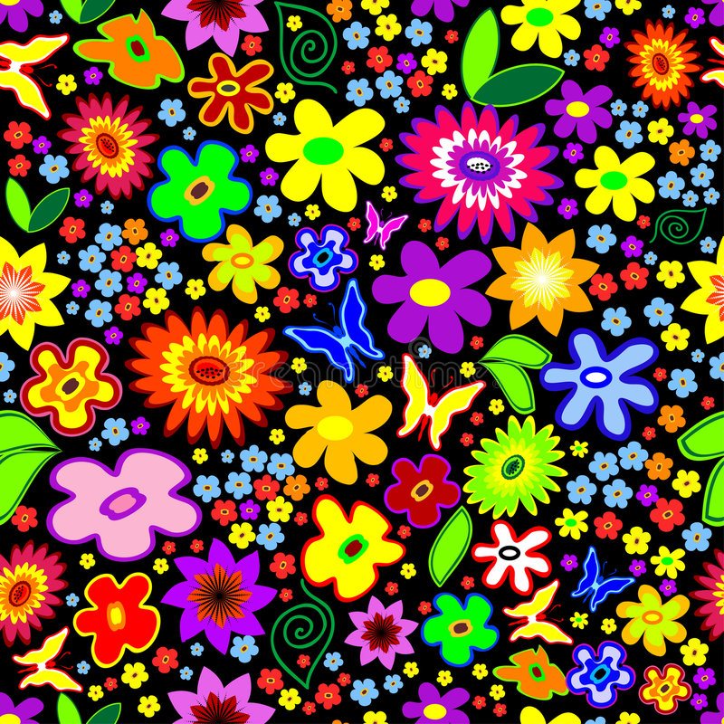 Seamless Floral Background wit stock illustration