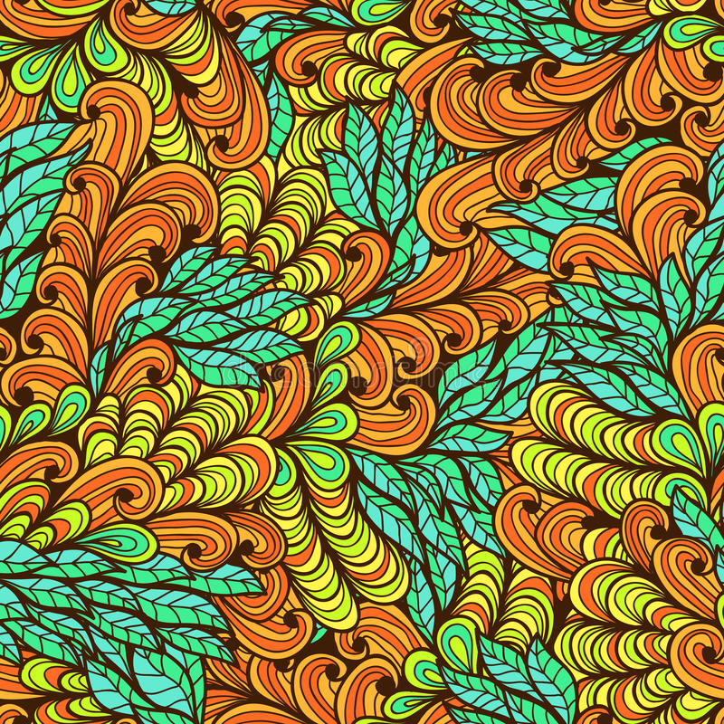 Seamless floral bright summer pattern vector illustration