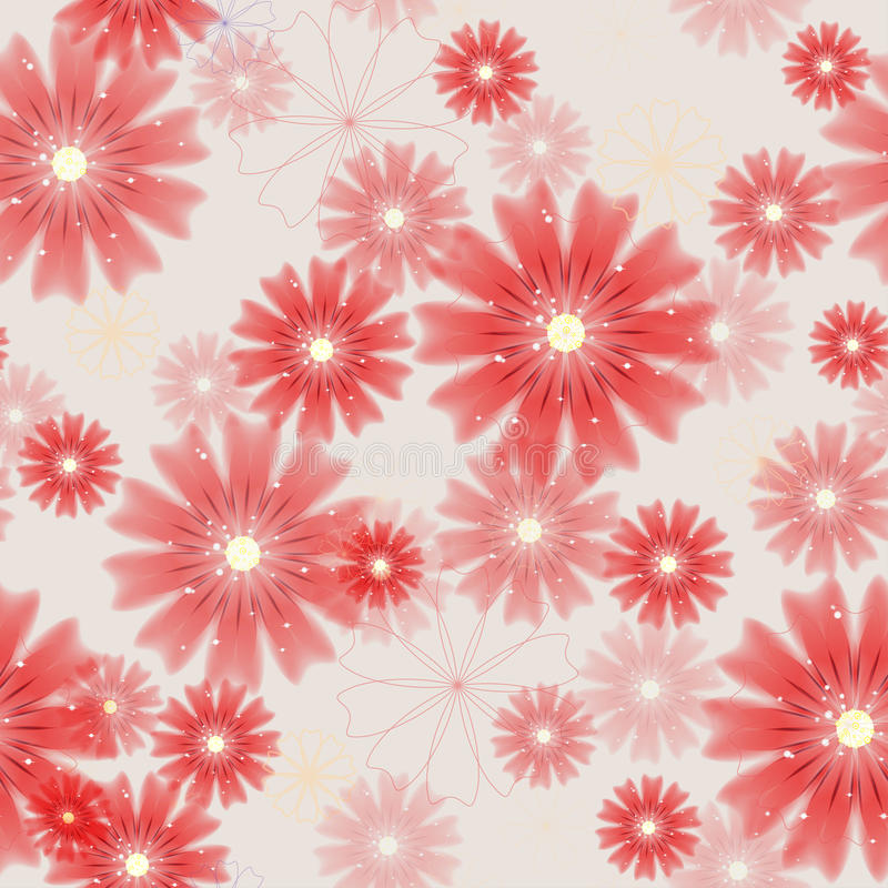 Seamless floral colored background. stock illustration