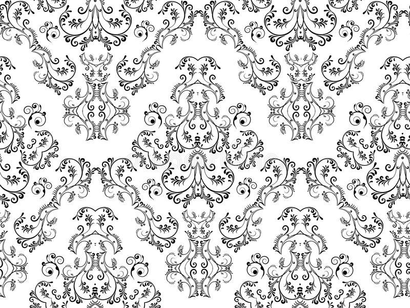 Seamless Floral Damask stock photo