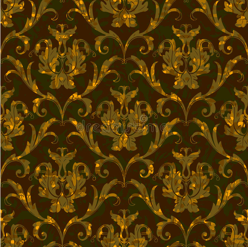 Download Seamless Floral Damask Pattern Background Stock Vector - Image: 22740165