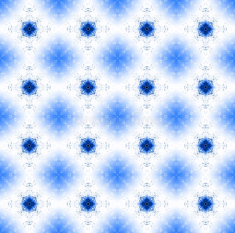 Seamless floral diamond pattern blue white shiny stock illustration