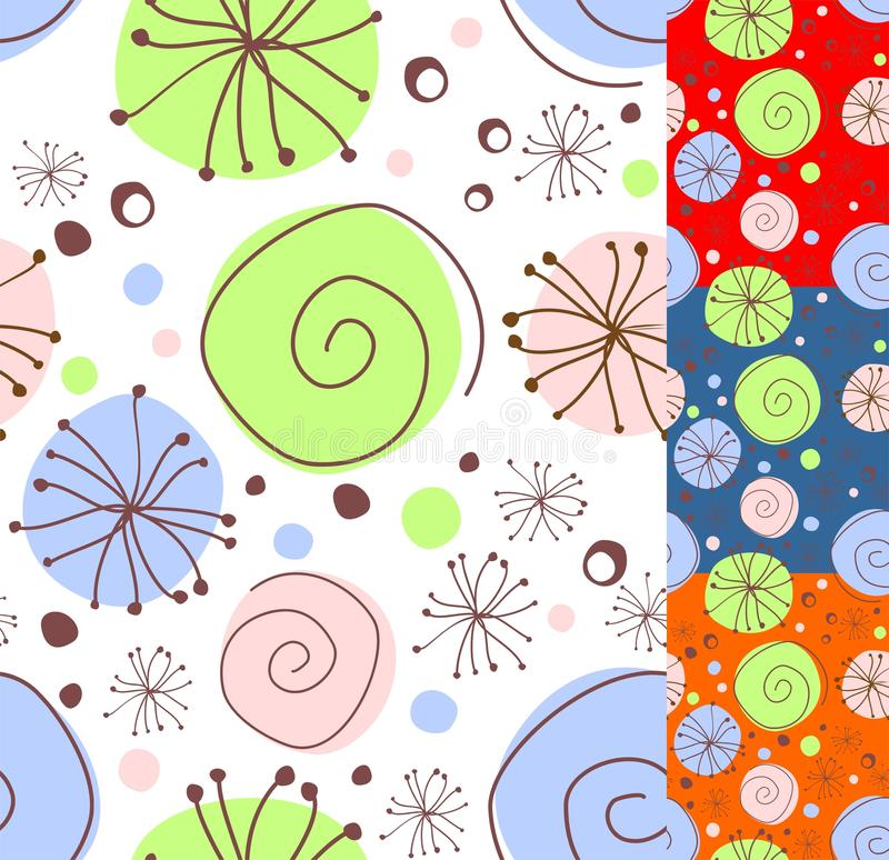 Seamless floral doodle vector illustration