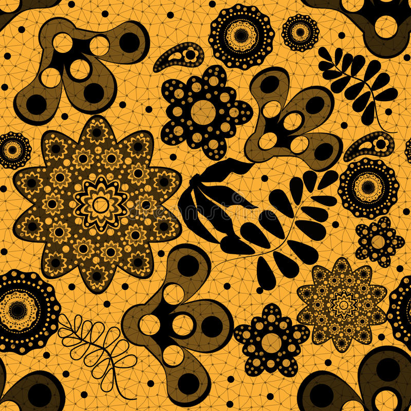 Download Seamless Floral Lace Pattern Stock Illustration - Image: 33049005