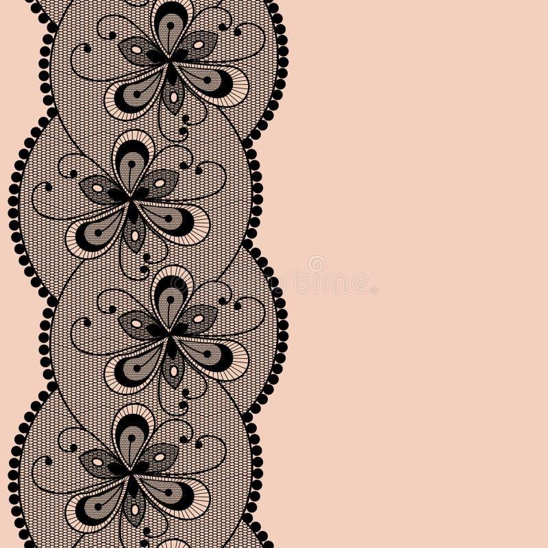 Seamless lacy border. stock illustration