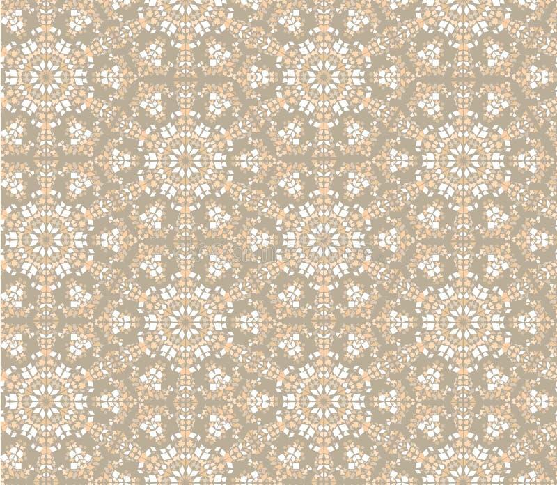 Seamless Floral Mosaic Pattern Royalty Free Stock Photo