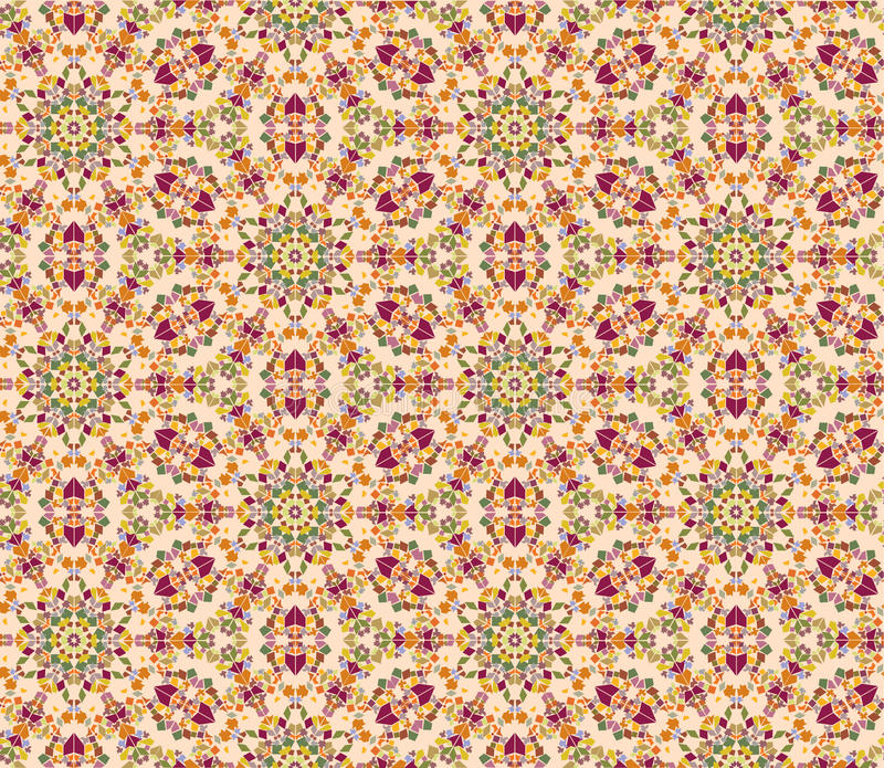 Download Seamless Floral Mosaic Pattern Stock Vector - Image: 26034117