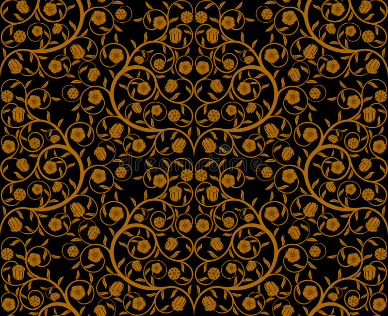 Download Seamless floral pattern stock vector. Image of wallpaper - 12106548