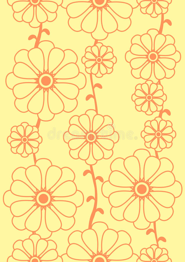 Download Seamless floral pattern stock illustration. Image of material - 13718256