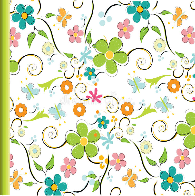 Download Seamless floral pattern stock vector. Image of element - 14621970