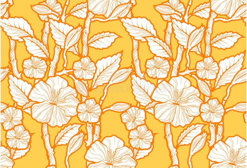 Download Seamless Floral Pattern stock vector. Illustration of twig - 15900719