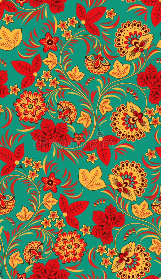 Download Seamless floral pattern stock vector. Image of background - 16059384
