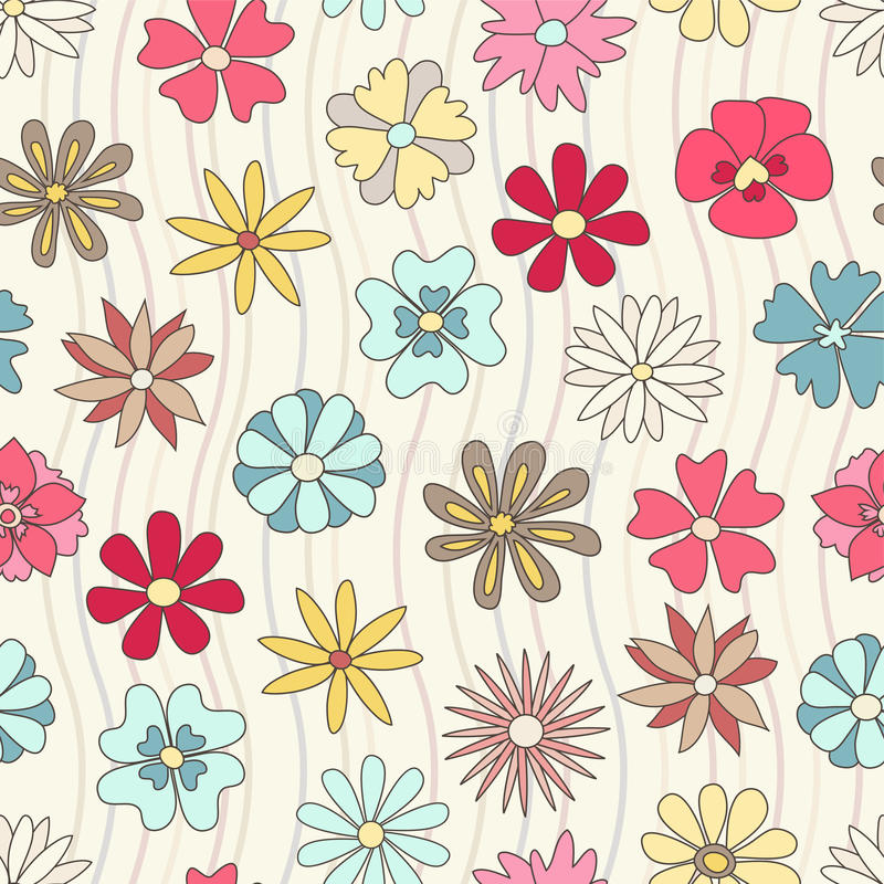 Download Seamless floral pattern stock vector. Image of pattern - 16593725