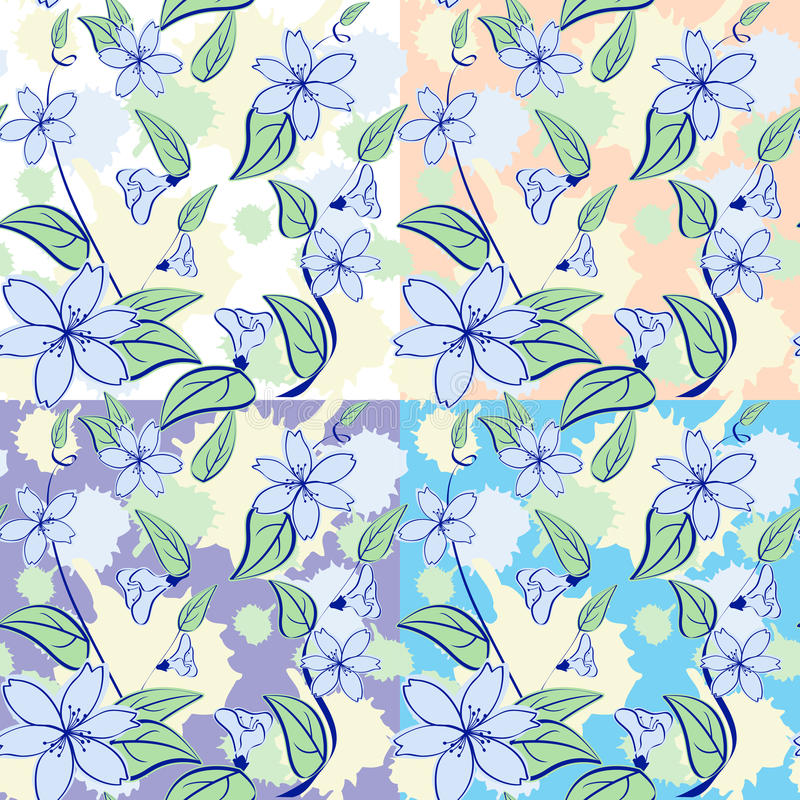 Download Seamless floral pattern stock vector. Illustration of floral - 18506821