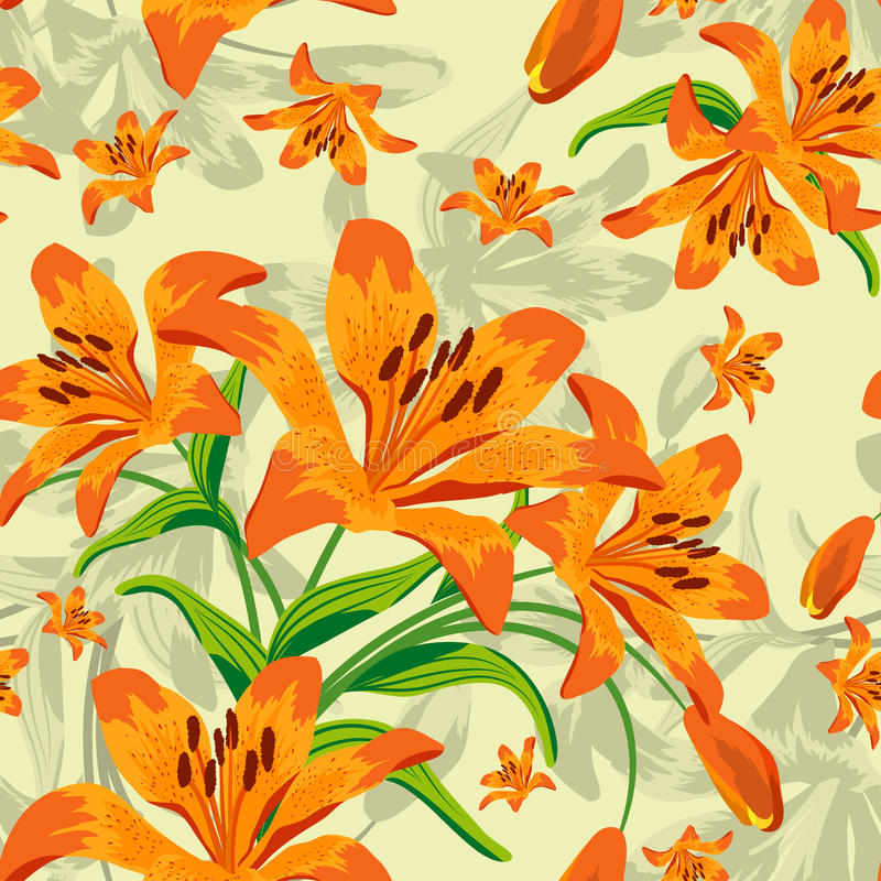 Free Seamless Floral Pattern Stock Images - 18906684