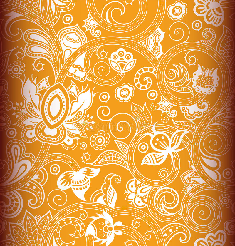 Download Seamless Floral Pattern 2 stock illustration. Illustration of asia - 21534184