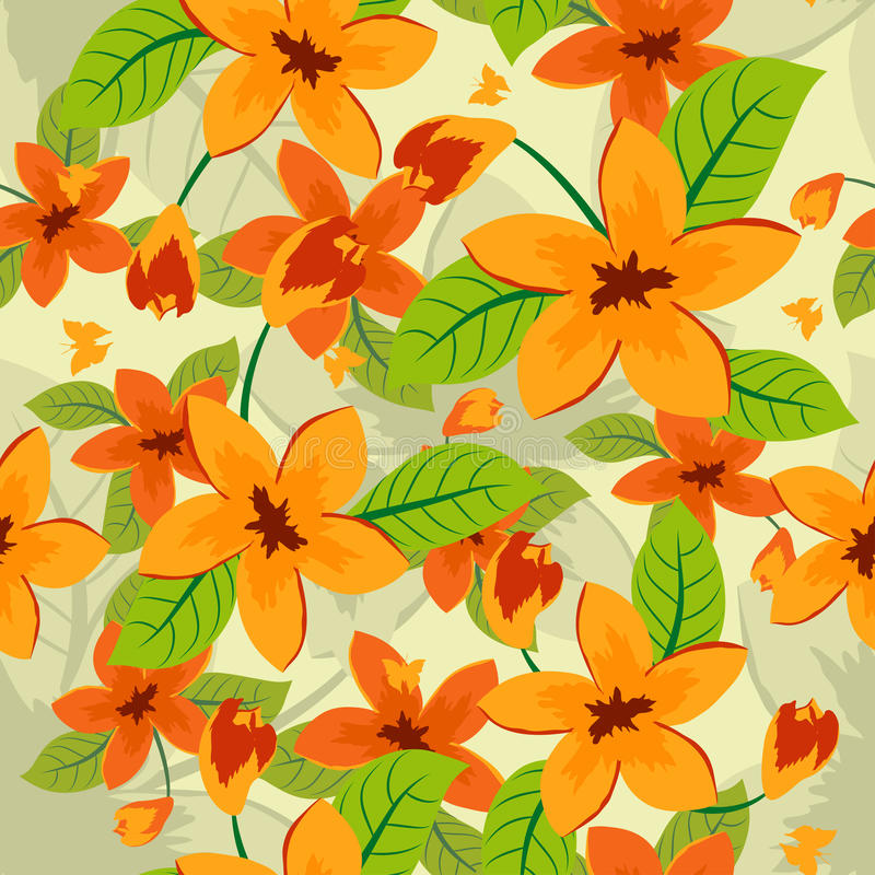 Download Seamless floral pattern stock vector. Image of backdrops - 21547048