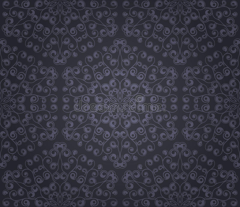 Download Seamless floral pattern stock vector. Image of damask - 21570853