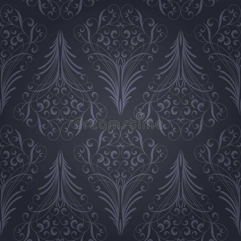 Download Seamless floral pattern stock vector. Image of damask - 21798803