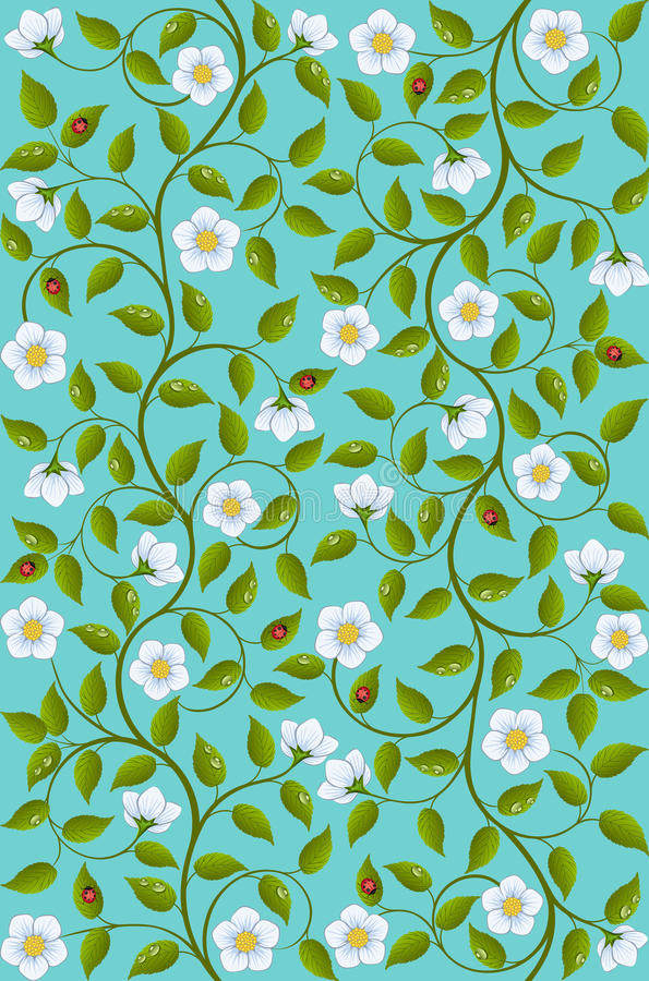 Download Seamless floral pattern stock vector. Image of blossom - 22454414