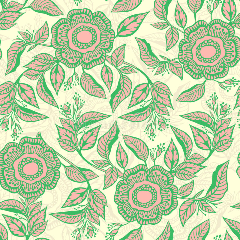 Download Seamless floral pattern stock illustration. Illustration of branch - 23488318