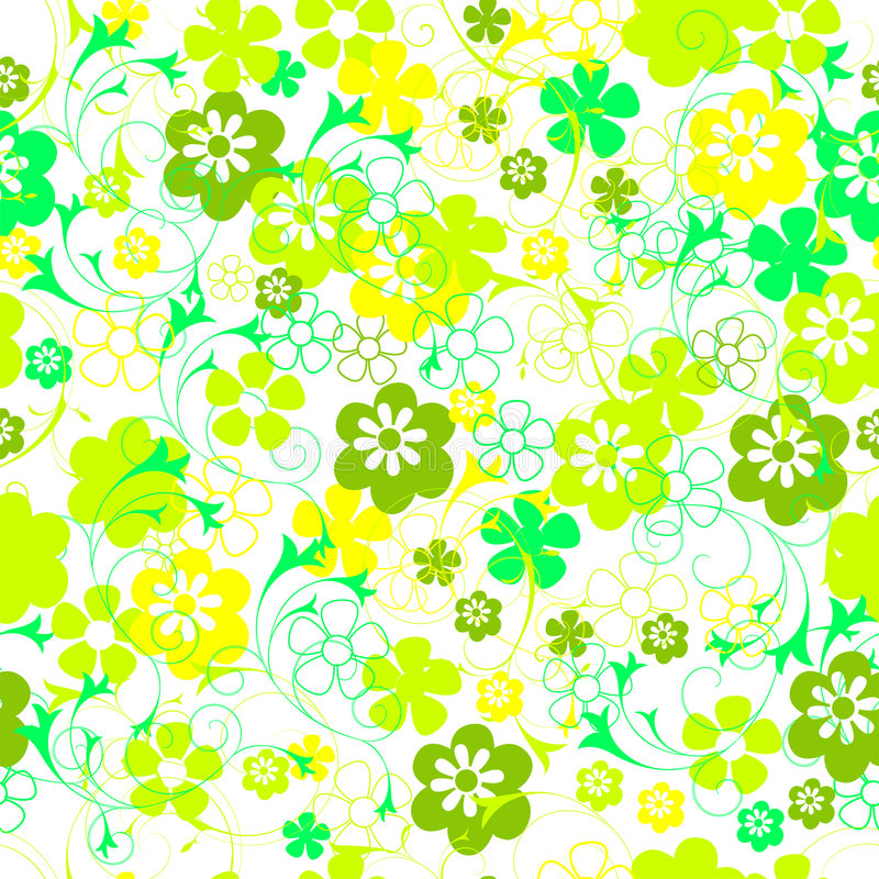 Seamless floral pattern. Seamless flower decorated swatch pattern vector vector illustration