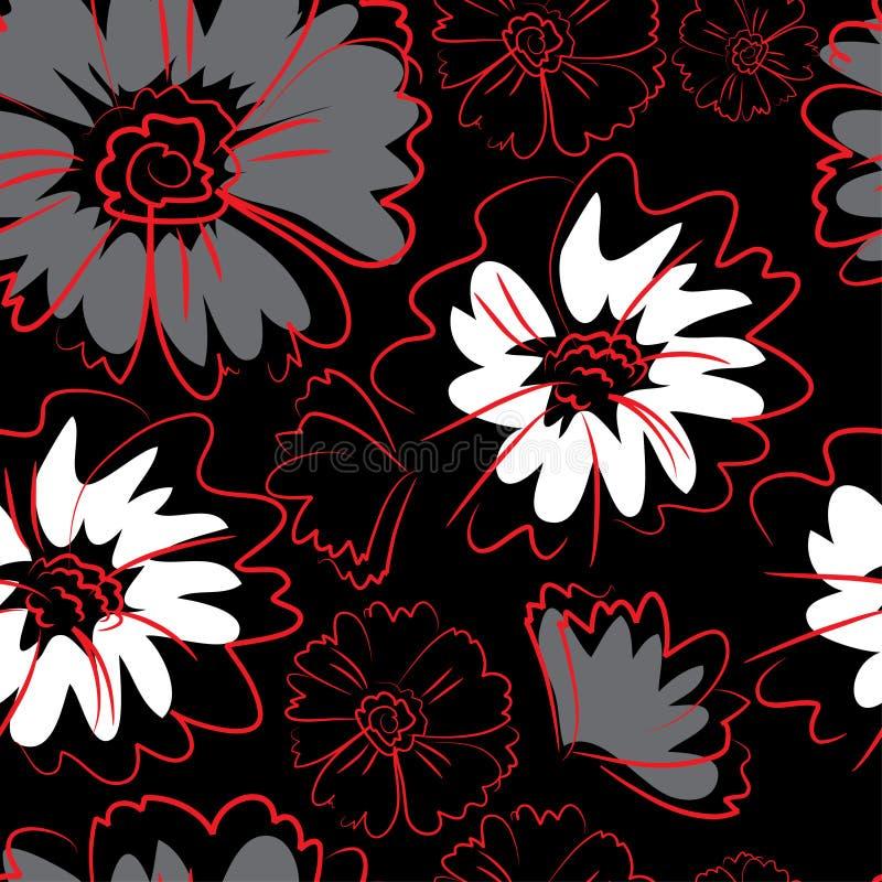 Seamless floral pattern stock illustration
