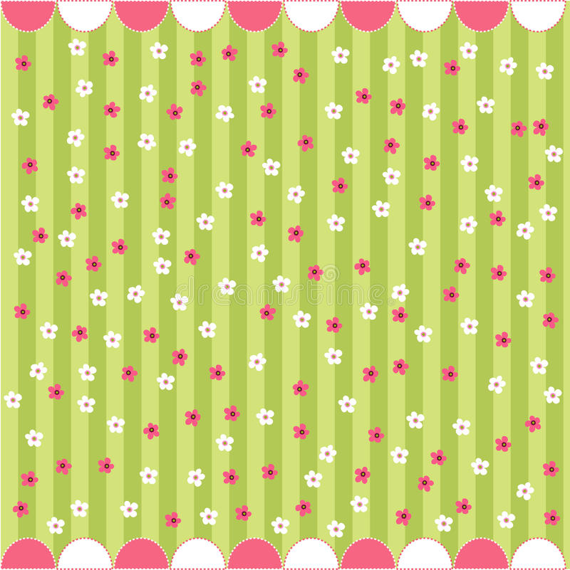 Seamless floral pattern, baby card royalty free illustration