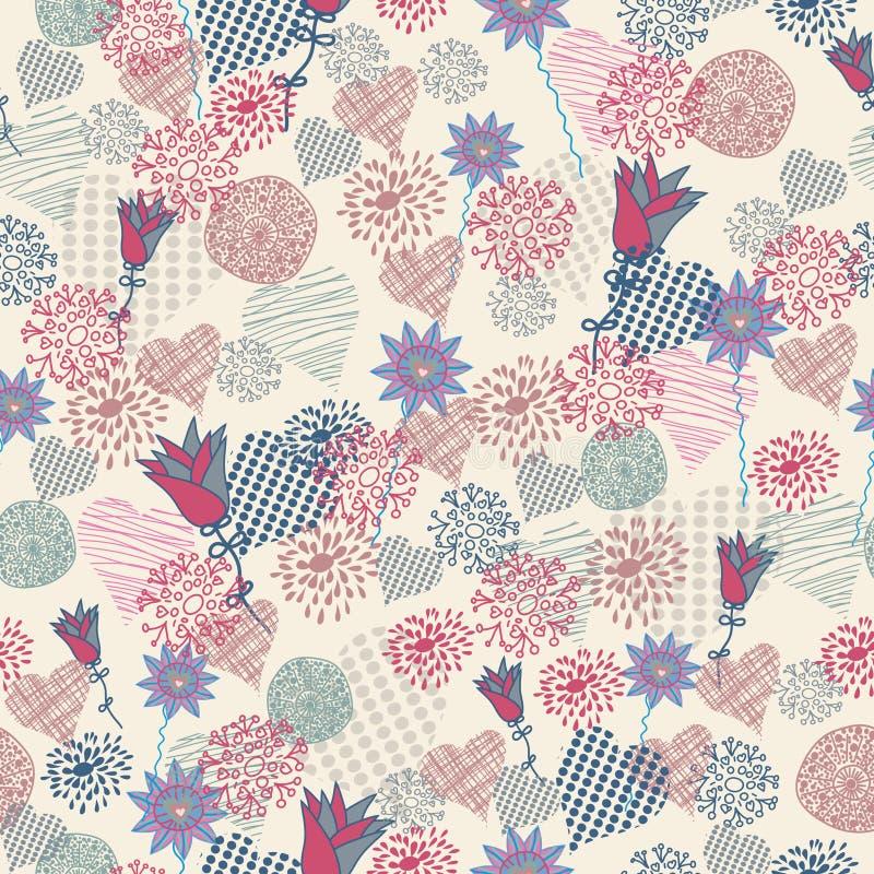 Seamless floral pattern . background stock illustration