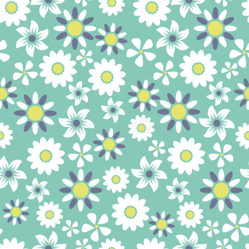 Seamless floral pattern background. Great for textile or web page background royalty free illustration