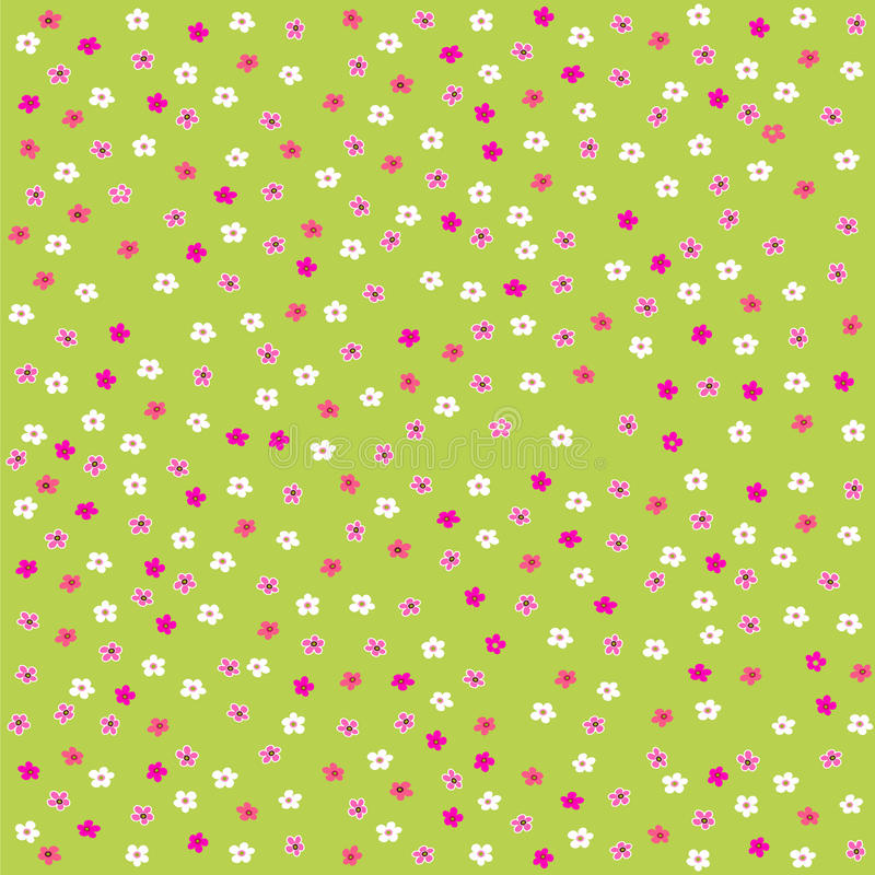 Seamless floral pattern with cute little flowers royalty free illustration