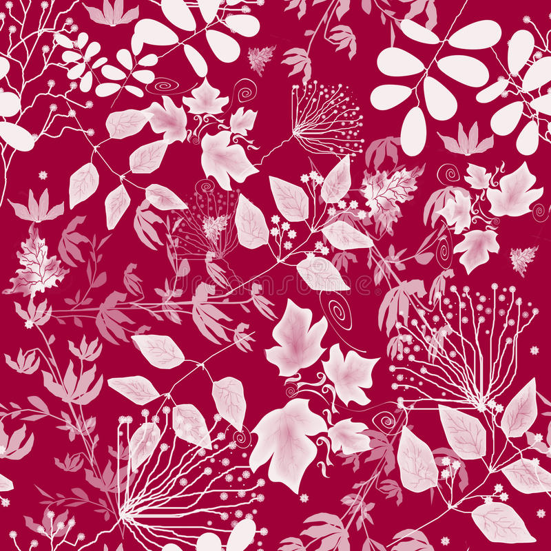 Seamless floral pattern. With decorative elements stock illustration