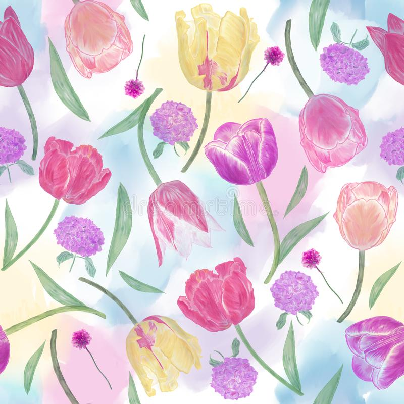 Download Seamless  floral pattern stock illustration. Illustration of design - 108281885