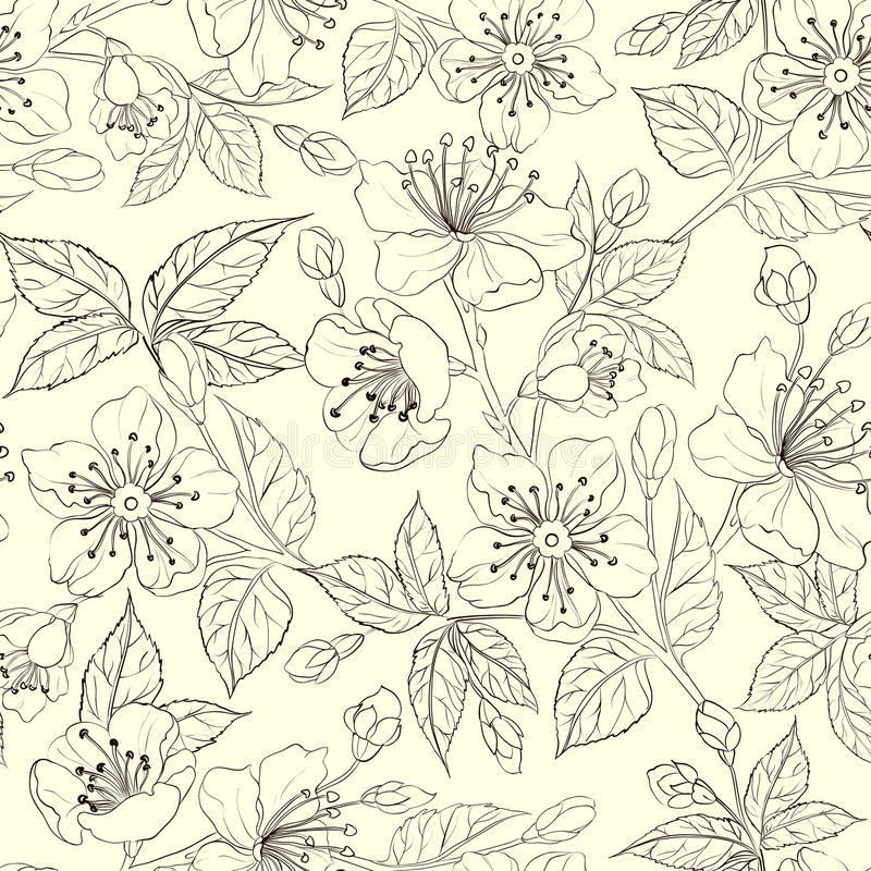 Download Seamless floral pattern stock vector. Image of nature - 30744560