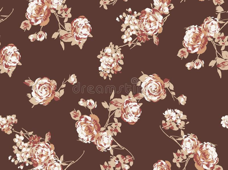 Seamless floral pattern with flower and background stock photography