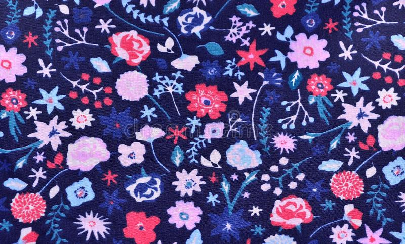 Seamless floral pattern with flowers - image stock illustration